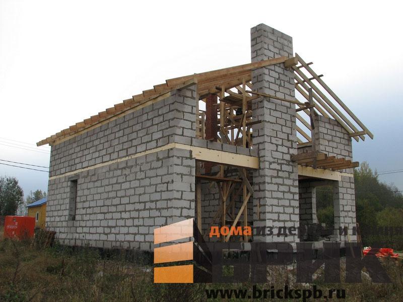Работы по возведению домов из газобетона строительная компан.